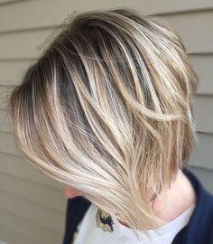 Mind-Blowing Short Hairstyles for Fine Hair Dark Brown Bob With Blonde BalayageDark Brown Bob With Blonde Balayage Haircuts For Fine Hair, Bob Hairstyles, Straight Hairstyles, Short Haircuts, Layered Haircuts, Haircut Short, Trendy Hairstyles, Hairstyle Short, Layered Hairstyle