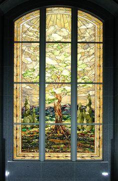 San Antonio Texas LDS TempleStained Glass Windowby Tom Holdman