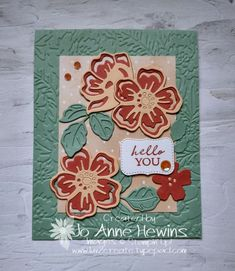Shaded Summer stamp set and the Sale-a-Bration offering Summer Shadows dies by Jo Anne Hewins Flower Stamp, Flower Cards, Poppy Cards, Paper Crafts, Card Crafts, Stampin Up Cards, Decoration, Birthday Cards, Projects To Try