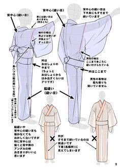 「着物をそれっぽく描くポイント」 [7]                                                                                                                                                                                 もっと見る