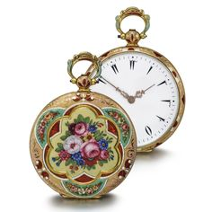 Swiss - Lady's Gold and Enamel Open-Faced Watch, Made for the Turkish Market, Circa 1830   Sotheby's
