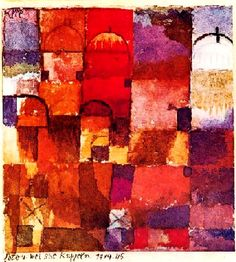 Paul Klee_Rote und weisses Kuppeln _1914_Aquarelle