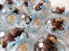 cupcakes de ositos bebes,elaborado por MONICA PASTAS Y DULCES.