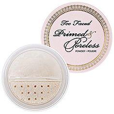 Too Faced Primed & Poreless Powder in Translucent - colorless #sephora