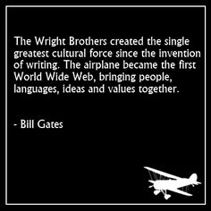 the gift of flight and convenience from the wright brothers Plaque, wright brothers 1903 and apollo 11 flights  controlled flight of the wright brothers in december 1903 and the first human lunar landing (apollo 11) in july .