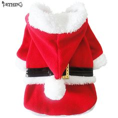 2016 New Pet Puppy Dog Christmas Clothes Santa Claus Costume Pet Cat Coat Winter Clothes XS S M L XL size suppy  #Affiliate