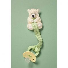 Crochet Teddy Pacifier Holder Pattern