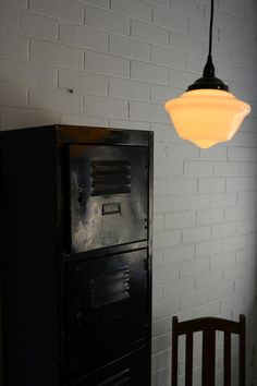 Schoolhouse Ceiling Pendant light shade from Fat Shack Vintage $160