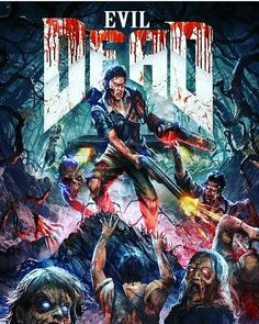 The Evil Dead Scary Movies, Horror Movies, Good Movies, Bruce Campbell Evil Dead, Horror Posters, Movie Posters, Ash Evil Dead, Horror Movie Tattoos, Ash Williams