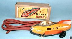 Space Rockets - ROUND RACE NO-1 JET ROCKET - ASAHITOY KDP - JAPAN - ALPHADROME ROBOT AND SPACE TOY DATABASE