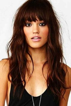 Love Long hairstyles with bangs? wanna give your hair a new look? Long hairstyles with bangs is a good choice for you. Here you will find some super sexy Long hairstyles with bangs, Find the best one for you, Oval Face Hairstyles, Pretty Hairstyles, Hairstyle Ideas, Shaved Hairstyles, Party Hairstyle, Brown Hairstyles, Bridal Hairstyle, Formal Hairstyles, How To Style Bangs