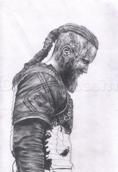 how to draw ragnar lothbrok from vikings step 17