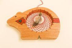 Zuni Bear dream catcher by GlowingHeartStudios on Etsy