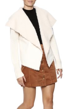 Faux suede front panels lined in faux fur with ribbed sleeves and body jacket.   Suede Ribbed Jacket by Coffeeshop. Clothing - Jackets, Coats & Blazers - Jackets - Suede New Jersey