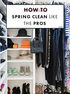 """""""Move all the clothing out of your closet into the bedroom. Put stacks of 10 items at a time on the bed. Evaluate into three categories: worn in the past month, keep, donate. Put the clothing you've…MoreMore Closet Hacks, Closet Organization, Closet Ideas, Organization Ideas, Diy Cleaning Products, Cleaning Hacks, Cleaning Routines, Cleaning Recipes, Just Dream"""
