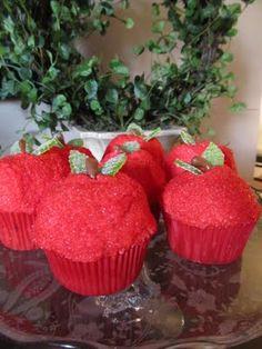 Cute little apple cupcakes!