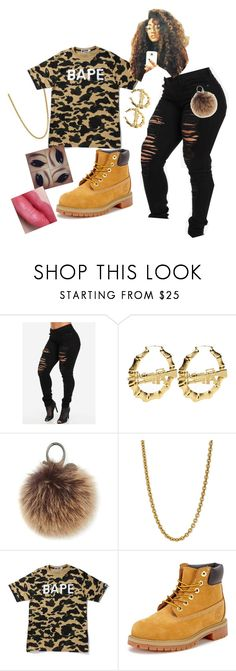 """Untitled #372"" by arinicole4l ❤ liked on Polyvore featuring Rebecca Minkoff, Linda Lee Johnson, A BATHING APE and Timberland"