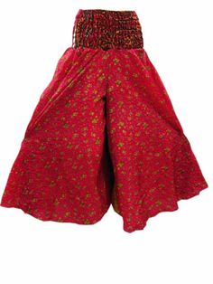 Vintage Silk Harem Pant Red Floral Print India Trouser for Women'S | eBay  $24.99