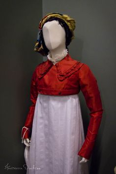 from the Dolley Madison documentary, via American Duchess:Historical Costuming