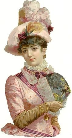 Victorian lady scrap