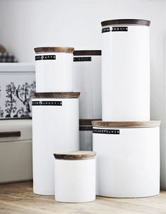 I love canisters, but I love canisters with cute labels even more. LOVE