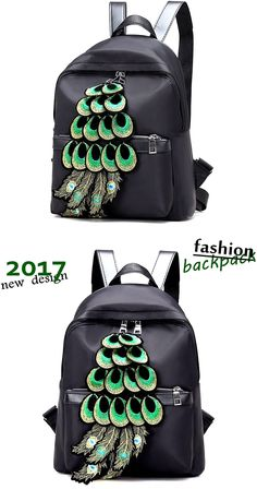 Buy Black Women's Backpack Oxford Cloth Shoulder Bags Fashion Simple Design for Girls Beautiful Peacock Backpack at Wish - Shopping Made Fun Backpack 2017, Latest Fashion Design, Wish Shopping, Simple Designs, Peacock, Oxford, Backpacks, Shoulder Bag, Bags