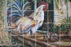 French+Country+Rooster+Vignettes | French Country Rooster in Window Sill
