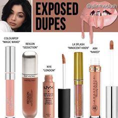 62 Ideen Make-up Dupes Kylie Jenner für 2019 - Makeup Tutorial For Teens Lip Gloss, Gloss Matte, Make Up Dupes, Love Makeup, Makeup Inspo, Makeup Geek, Makeup Ideas, Makeup App, Elf Makeup