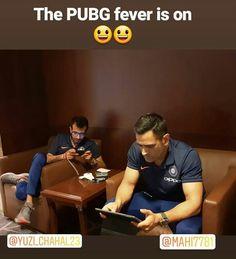 Haha...#PUBG fever😂😎😋 India Cricket Team, World Cricket, Cricket Sport, Funny School Jokes, School Humor, Funny Jokes, Funny True Quotes, Funny Relatable Memes, Dhoni Captaincy