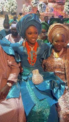 African Attire, African Fashion Dresses, African Dress, African Clothes, African Art, African Textiles, African Fabric, Yoruba Wedding, African Head Wraps