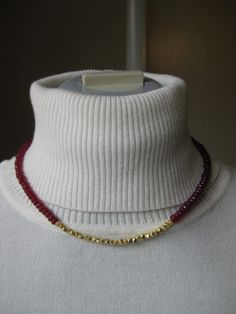 """Item F9241 17"""" red jade, gold filled beads. Gold filled hook/eye clasp. $45."""
