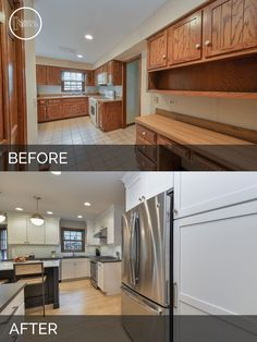 Home remodeling contractors - Justin & Carina's Kitchen Before & After Pictures – Home remodeling contractors Refacing Cuisine, Refacing Kitchen Cabinets, Kitchen Hutch, Kitchen Tile, Kitchen Floor, Kitchen Redo, Kitchen Pantry, Kitchen Layout, Kitchen Island
