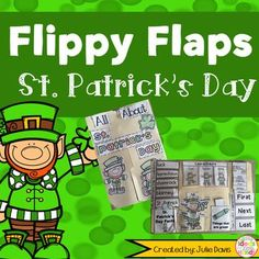 St. Patrick's Day Flippy Flaps!  This is a great way to get your students learning about St. Patrick's Day and Leprechauns in a fun hands-on interactive way! Your students will be engaged and learn about St. Patrick's Day in many different ways!  Activities included:  - All About St. Patrick's Day - St. Patrick's Day Word/Picture Match - St. Patrick's Day KWL - Leprechauns can/have/are - Label a Leprechaun - St. Patrick's Day Facts - Describe a Leprechaun - St. Patrick's Day Vocabulary