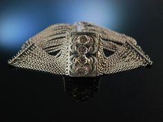 Salzburg um 1910! Trachten Collier Kette Kropfkette Silber 800 Granate 12reihig, antique silber bracelet, traditioneller Trachtenschmuck bei Die Halsbandaffaire