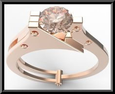 Welcome to Vidar Jewelry by roi avidar! specializing in custom diamond & gemstone, engagement rings & wedding ring sets.   Show your love that you want to handcuffed your heart to her heart with this beautiful Rose Gold Handcuffs Engagmenet Ring!   center gemstone: Pink Morganite  carat weight: about 0.68ct  color/clarity: Light Pink/VS  size/cut/shape: 5mm round, very good   ring details:  metal/weight/detail:14K White/Yellow/Rose, about 5-6Gr. $1500