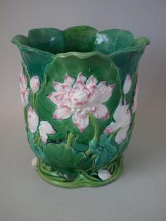 Minton Majolica Water Lily Jardinere | ID#20896 | Madelena