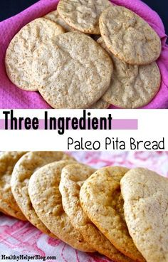 3 Ingredient Paleo Pita Bread from Healthy Helper Blog...gluten-free, grain-free, and 100% paleo-friendly! Only 3 ingredients and super easy to make! [whole 30, paleo, plantains, paleo food, easy recipe, healthy food, healthy recipe, grain-free, high protein, healthy bread, bread, carbs]