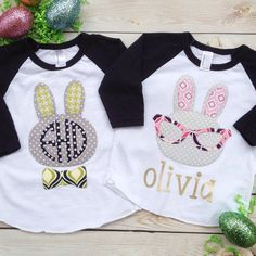 ms bunny easter personalized name monogram girls by ohsweetsprouts
