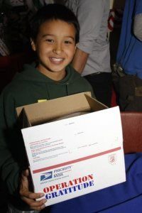 Live near Los Angeles? We welcome volunteers age 12 and up to join us at the armory: http://www.operationgratitude.com/volunteer/