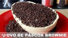 OVO DE PÁSCOA de chocolate branco com BROWNIE - Ovo Brownie - PÁSCOA 201...