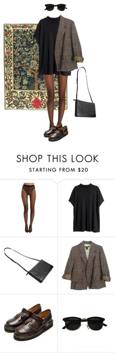 """Untitled #132"" by borninthe1990s ❤ liked on Polyvore featuring Wolford, H&M and Marc by Marc Jacobs"