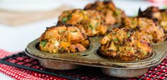 This Muffin Tin Stuffing may be the cure for over-indulging on stuffing...