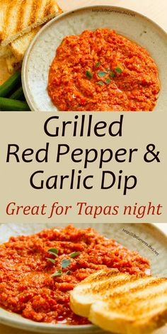 Grilled Red Pepper and Garlic Dip
