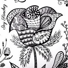 creative design ideas for art Doodle Art Drawing, Zentangle Drawings, Pencil Art Drawings, Zentangle Patterns, Zen Doodle, Flower Drawings, Doodles Zentangles, Doodle Patterns, Tattoo Designs