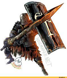 Dark Souls,Iron Knight Tarkus,песочница,DS art,DS персонажи