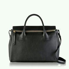 Stonebank black leather bag