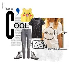 """""""Coolness. Inspired by ckk90210"""" by obsessedaboutstyle on Polyvore featuring Marc by Marc Jacobs, H&M, LES (ART)ISTS and Dr. Martens"""