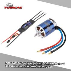 TOMCAT TMC-005 TC-G-3527 1140KV 4T Motor & Skylord 50A Brushless ESC with 5V/3A UBEC for RC 25 Class Airplane