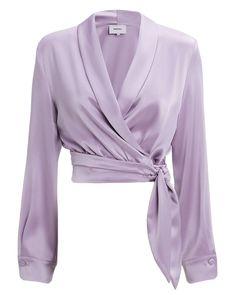 Crop Tops 854276623051836439 - Nanushka Salome Satin Wrap Crop Top Source by missvifdor Cropped Tops, Hijab Fashion, Fashion Outfits, Ladies Fashion, Fasion, Fashion Clothes, Satin Bluse, Wrap Clothing, Grunge Look