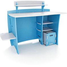 No Tools Assembly - Desk, Blue and White - walmart online 209.00